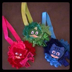 Other - 3 PJ Mask girls headbands. Never been worn.